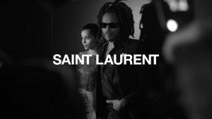 Lenny Kravitz posa per Saint Laurent