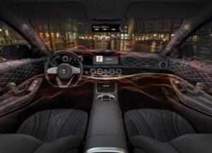 In auto con un sistema audio 3D