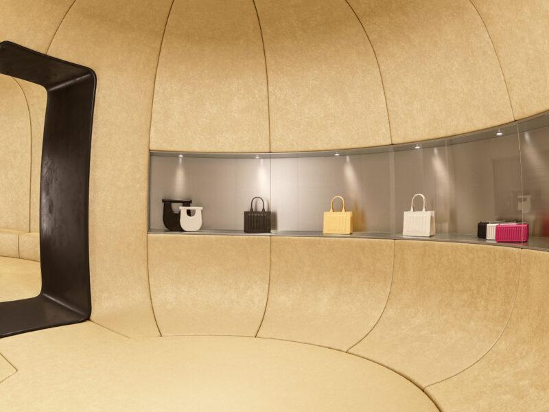 IURI MUSEO: uno spazio futuristico che unisce moda e design