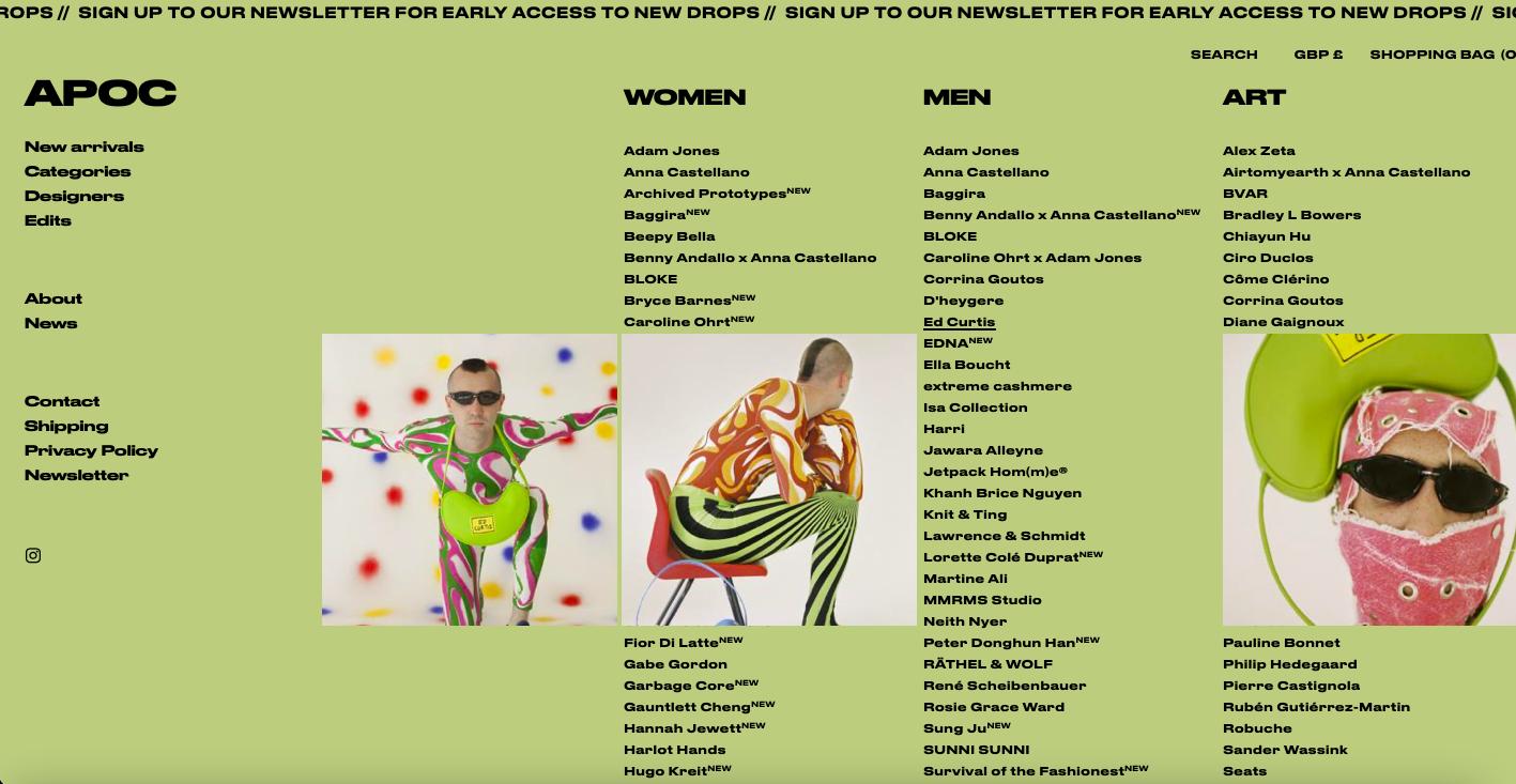 APOC: la nuova voce dei talenti emergenti della moda